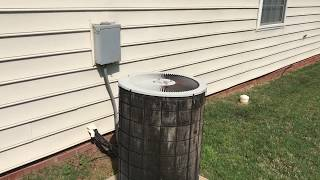 Changed out Comfortmaker to Trane HVAC system