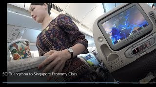 Singapore Airlines Guangzhou to Singapore Economy Class Airbus A330
