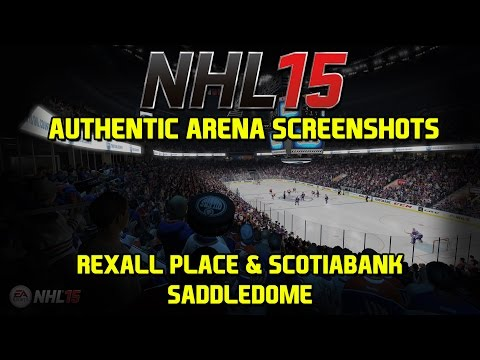 NHL 15 New Authentic Arena Screenshots - Rexall Place and Scotiabank Saddledome