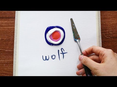 Wolf & Moon|Easy & Simple Landscape Acrylic Painting On Mini Canvas Step By Step #268|Satisfying