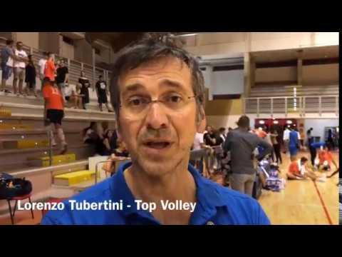 Coach Lorenzo Tubertini dopo l'allenamento congiunto tra Top Volley e Sabaudia