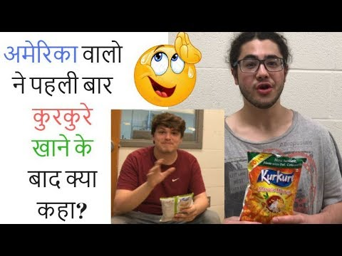 Americans Try Indian Snacks(KurKure) For The First Time | The Indian Food Challenge