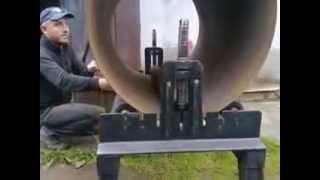 Как согнуть листовое железо в трубу(Станок для сгибания листового железа., 2015-06-20T16:45:19.000Z)