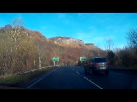 December Morning Drive To Dundee From Perth Scotland