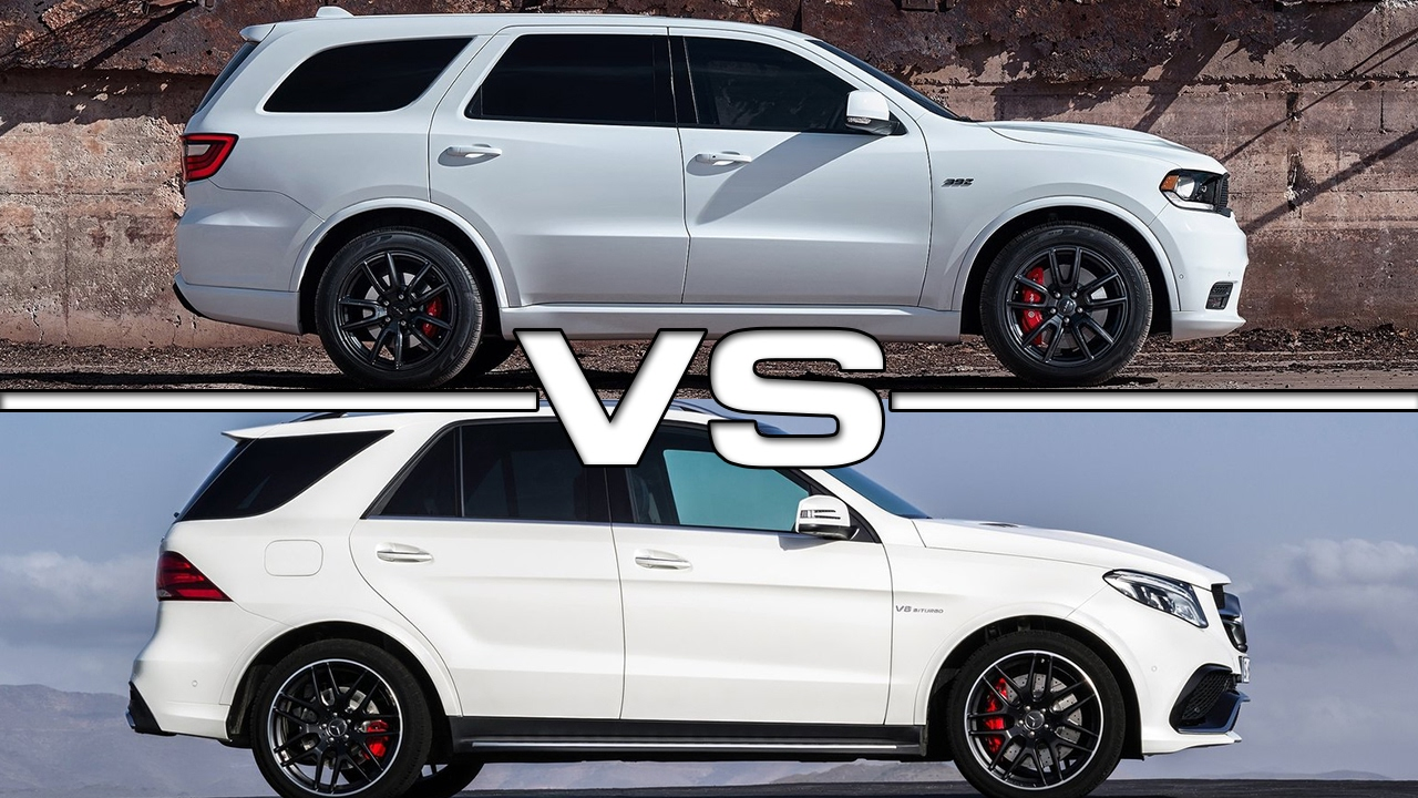2018 Dodge Durango SRT vs 2016 Mercedes AMG GLE63 - YouTube