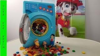 Стиральная машина с сюрпризами Щенячий патруль получает подарки Щенячий патруль игрушки Paw patrol