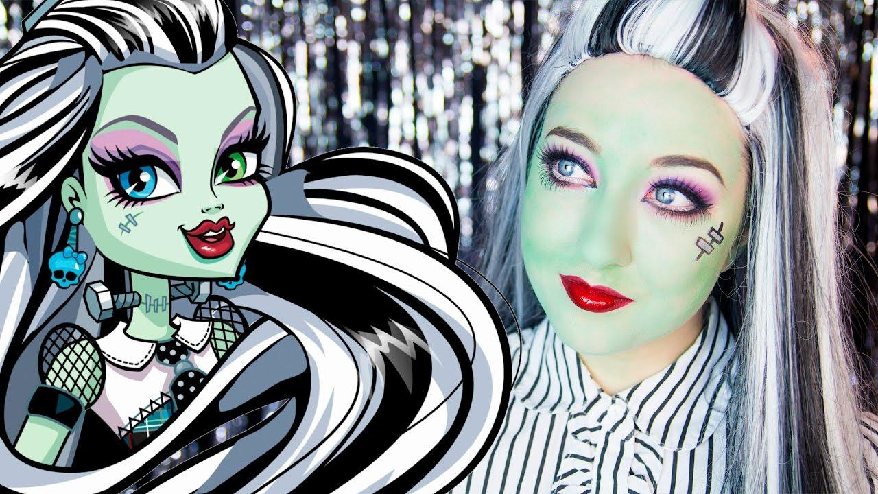 Monster high frankie stein makeup tutorial youtube - Monster high youtube ...