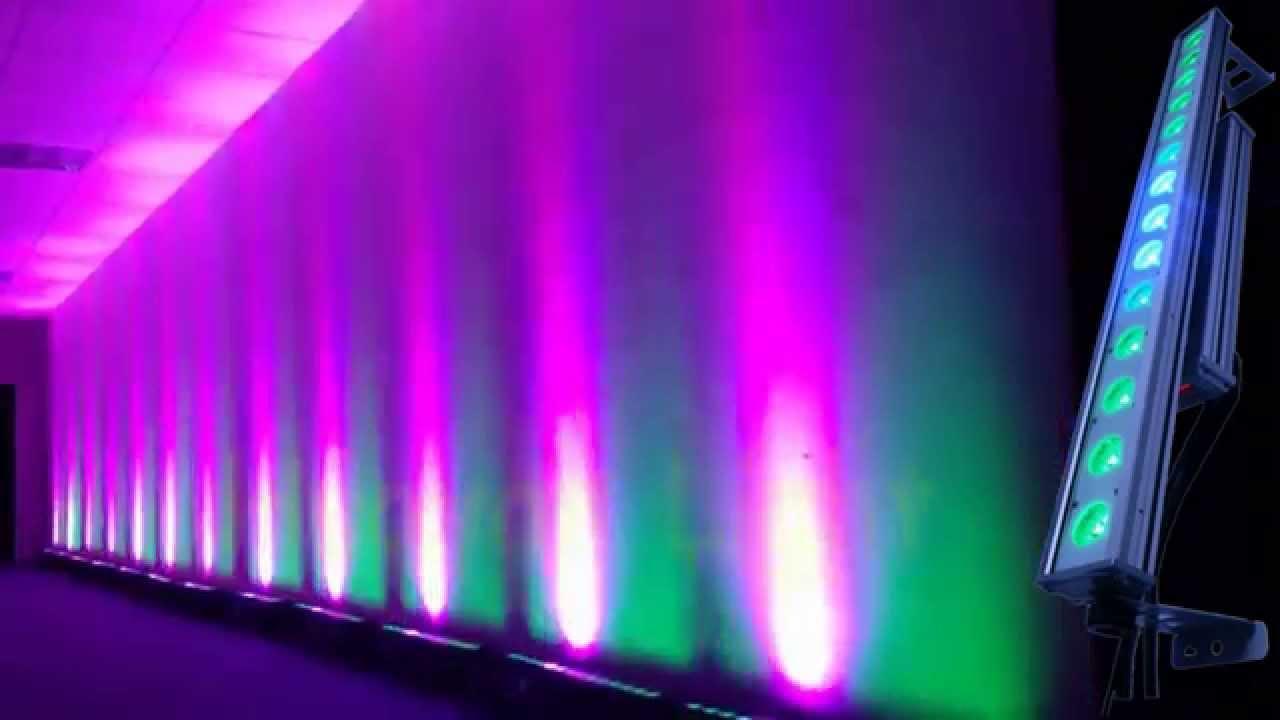 Waterproof Uplight Outdoor Wedding Light 14 30w Cob Rgb High Power Uplight Youtube