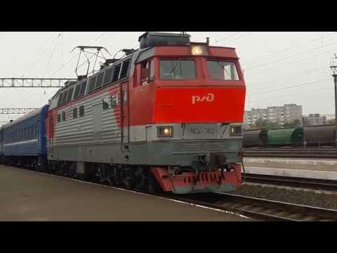ЧС4т-382 РЖД сообщением Москва-Брест отправляется со станции Барановичи-Полесские