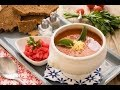 شوربة وسلطة - شوربة طماطم بالريحان + سلطة فراولة بالدجاج - الجزء الاول
