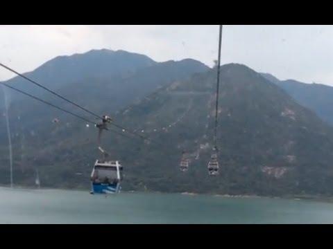 """Ngong Ping 360 """"Crystal Cabin"""" ride to Ngong Ping Village, Hong Kong (Complete)"""
