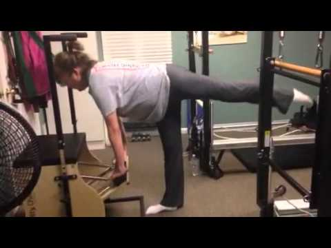 25 Penche Arabesque Assisted By Stott Pilates Stability