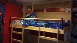Cameron & Landen's new murphy bunk bed