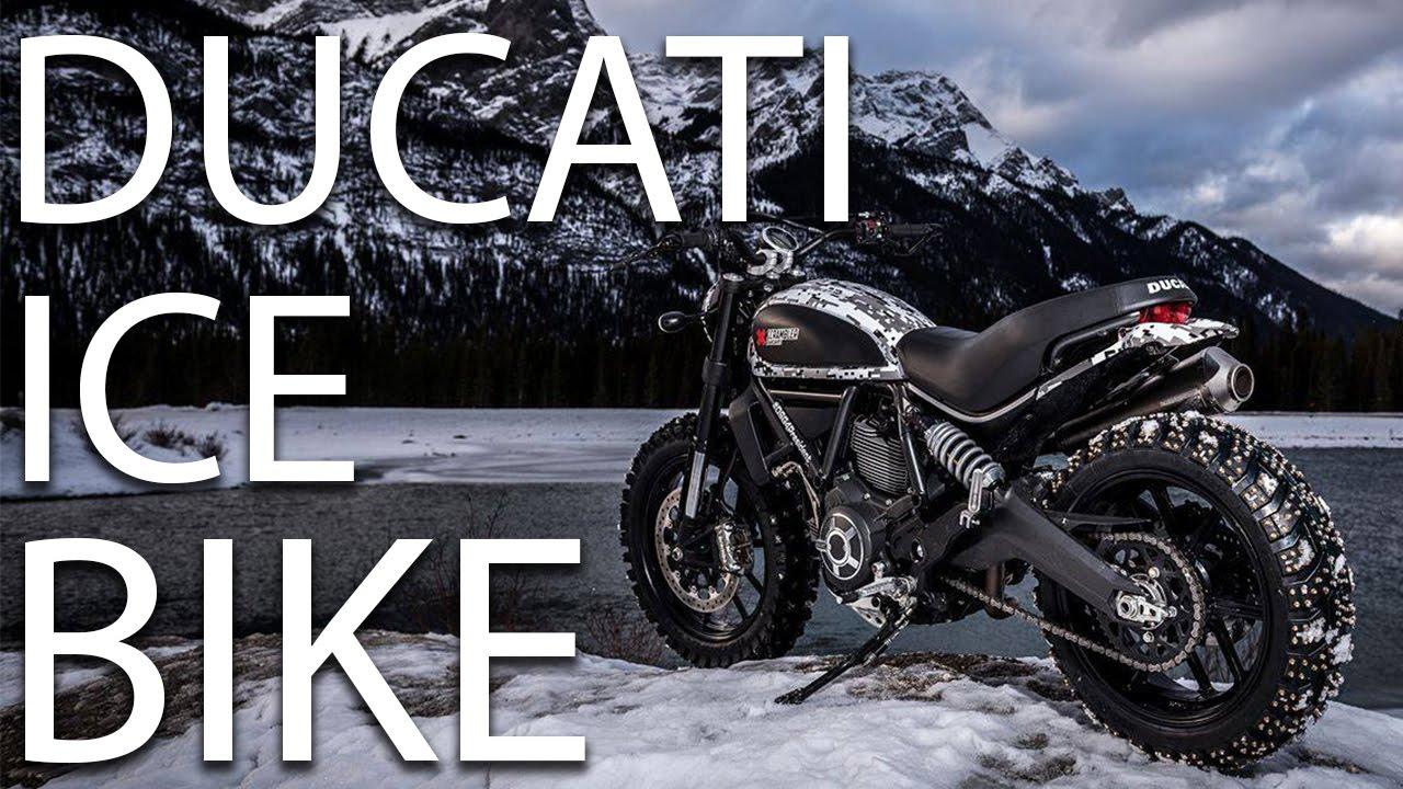 Top Motorcycle on Ice! Custom Ducati Scrambler! - YouTube EP98