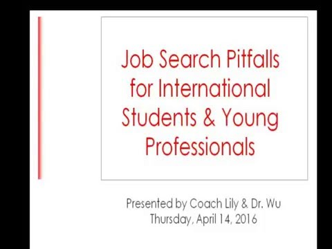 Job Search Pitfalls for International Students and Professionals