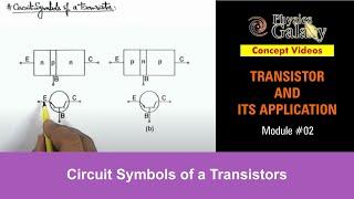 2. Physics | Transistor And Its Application | Circuit Symbols of a Transistors | by Ashish Arora