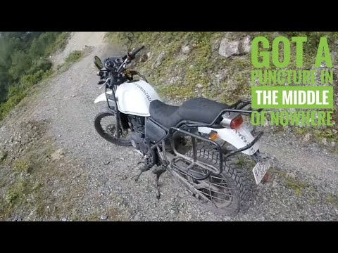 RE Himalayan got it's first tire puncture