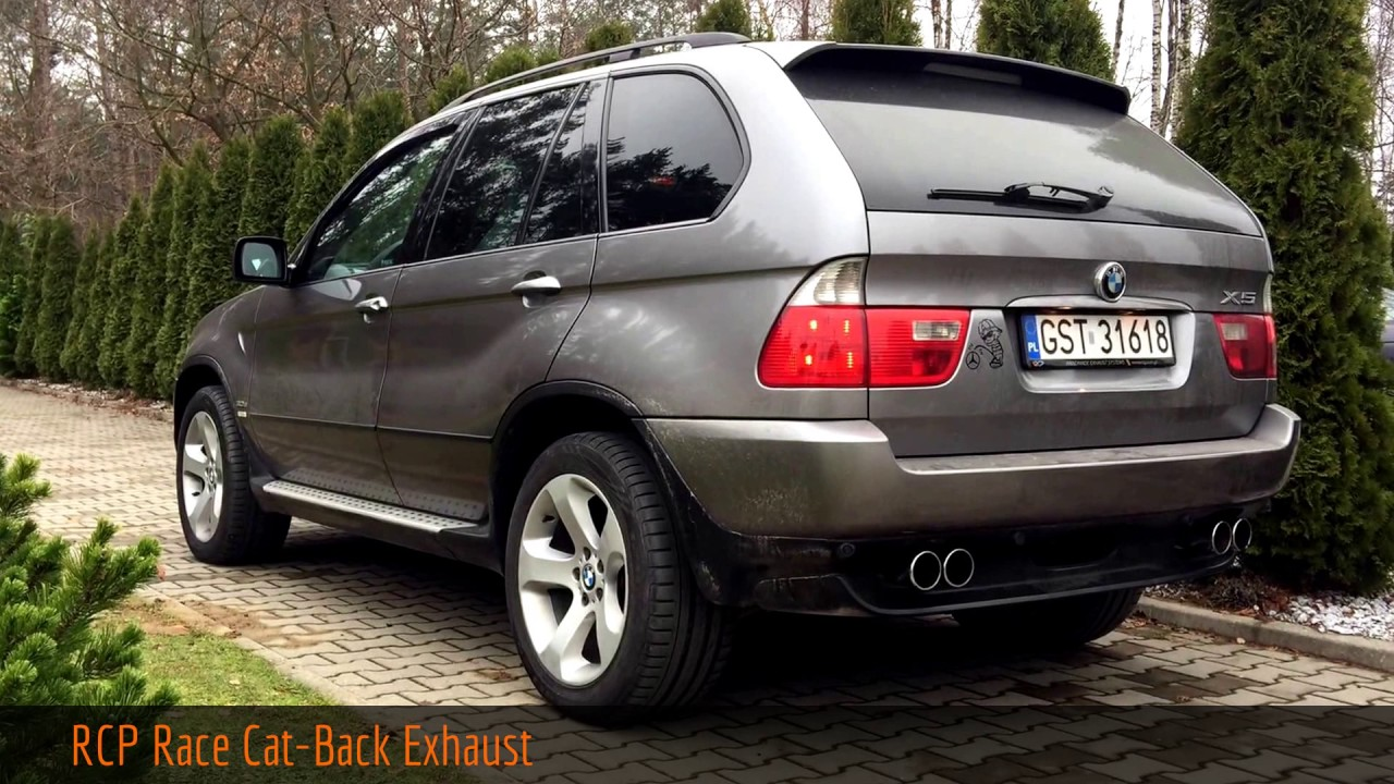 bmw x5 e53 rcp race cat back exhaust youtube. Black Bedroom Furniture Sets. Home Design Ideas