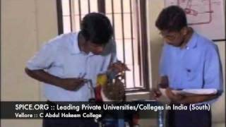 SPICE.ORG::Leading Private Universities:Colleges in India (South)::Vellore::C Abdul Hakeem College
