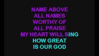 KARAOKE - Chris Tomlin - How Great Is Our God.flv