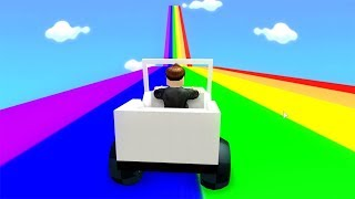ROBLOX: I CLIMBED THE GIANT COLORED SLIDE WITH A CAR!