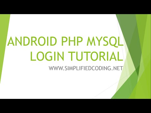 Android PHP MySQL - Simple Registration and Login App