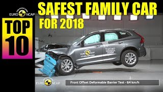 TOP 10 SAFEST FAMILY CARS FOR 2018 | EURONCAP | VOLVO XC 60 The highest Rating |