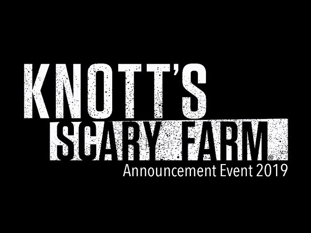 Knott's Scary Farm 2019 Announcement Event Full Video [HD]