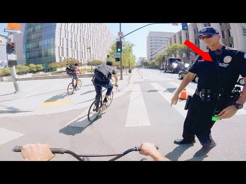 LAPD OFFICER TRIED TO STOP ME! (RIDING BMX IN LA COMPTON)