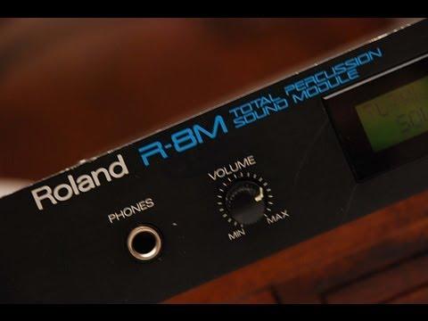 Roland R8-M Total Percussion Sound Module Factory Demo & 6 PCM Cards
