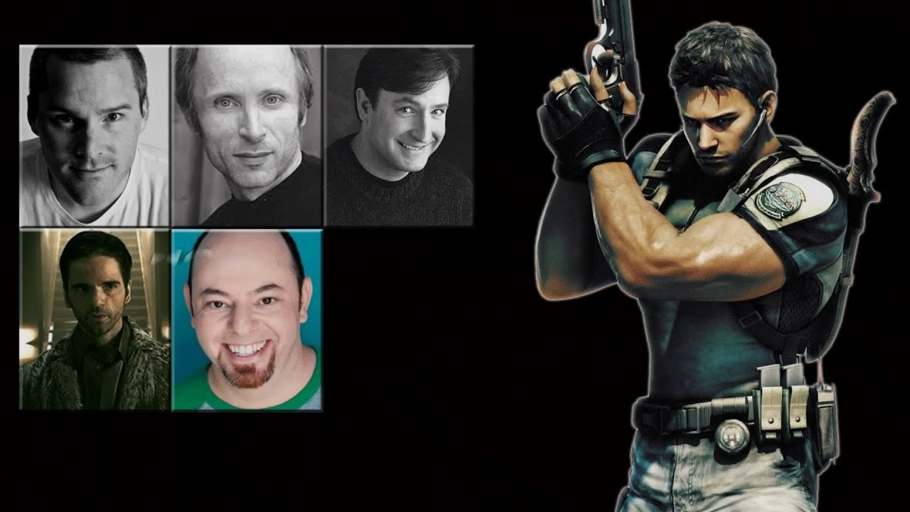 Characters Voice Comparison Chris Redfield Youtube