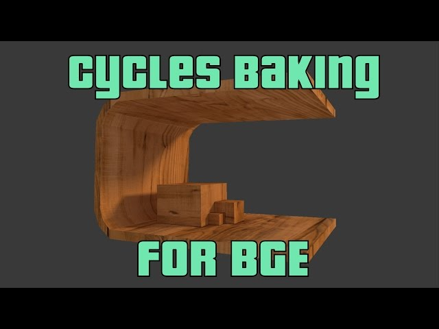 How to use Cycles baking in BGE