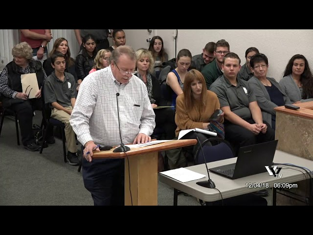 Cottonwood City Council Dec 4 2018 Regular Meeting
