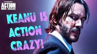 Keanu Reeves is Action Crazy - Clip Compilation