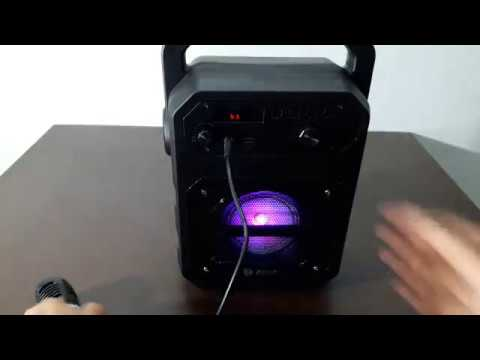 Zoook Rocker Thunder 20 watts blutooth speaker with karaoke detail review
