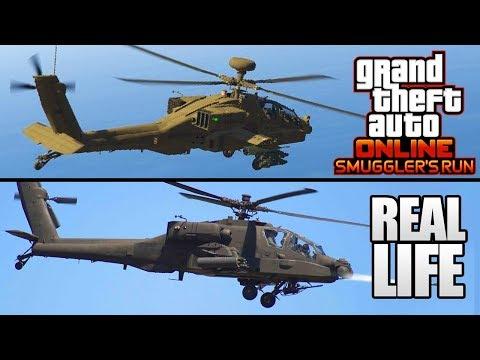GTA 5 ONLINE - 11 NEW SMUGGLER'S RUN DLC AIRCRAFTS IN REAL LIFE! (GTA 5 Smuggler's Run Update)