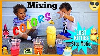 We love to do fun experiments! Oliver loves to watch videos of mixi...