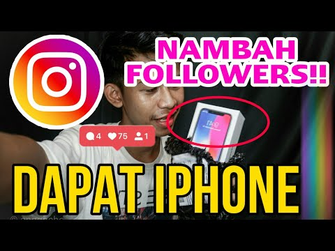 GIVEAWAY IPHONE X | CARA MENAMBAH FOLLOWERS INSTAGRAM