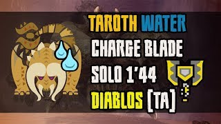 MHWorld;Diablos solo   TA   1'44   Water Charge Blade