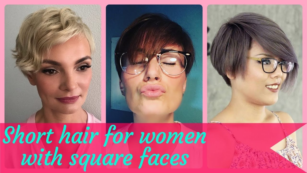 Cut square face for pixie 50+ Fashionable