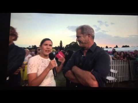 Mel Gibson being introduced at Tropfest