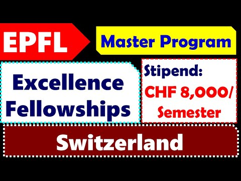 EPFL: Swiss Excellence Scholarships For Master Studies