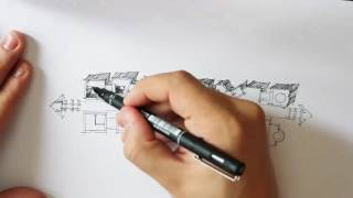 Architecture Rough Sketch Drawing 2 - layout Shadows
