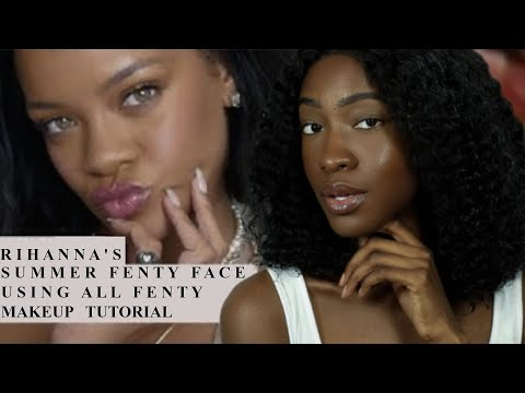 I Tried Following Rihanna's Summer Fenty Face Tutorial | Too Much Mouth