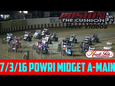 Angell Park Speedway 7/3/16 POWRi Midget Feature