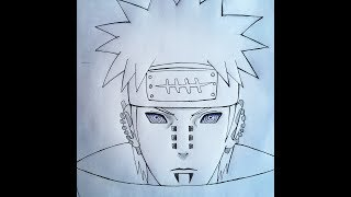 How to draw  Pain (Naruto)