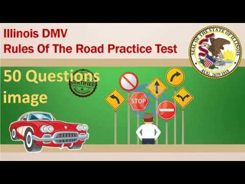 Illinois DMV Rules Of The Road Practice Test (Hard)