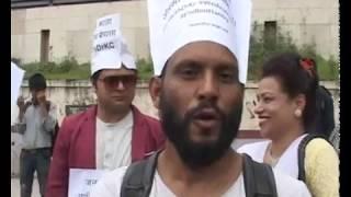 संसद भवन छिर्न खोजेपछि प्रहरी र गोविन्द केसीका समर्थकबीच झडप ( भिडियो)