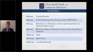 COVID19 HR/Employment Webinar July 22, 2020  Marty Rabinovitch