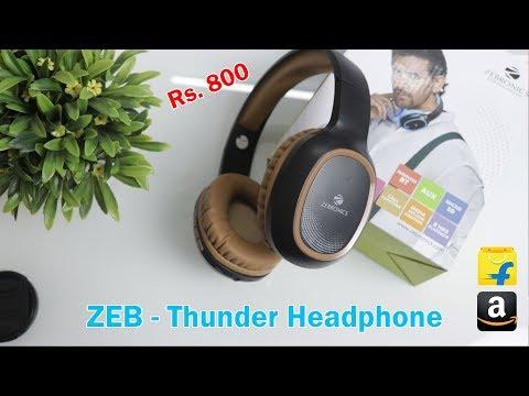 Zebronics Zeb-Thunder Headphone Review & Unboxing | Headphone Under Rs.800
